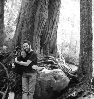 Sylvia & John hugging